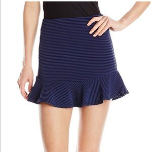 BCBG Blue Stripe Skirt